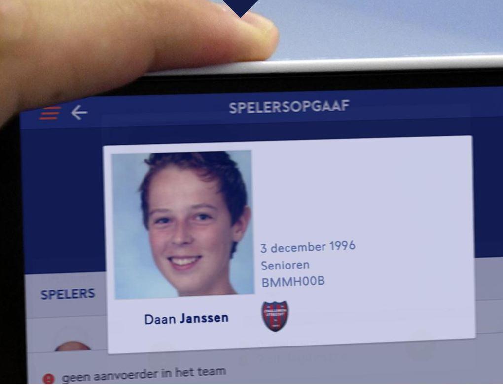 Zorg voor een herkenbare pasfoto op je spelerspas